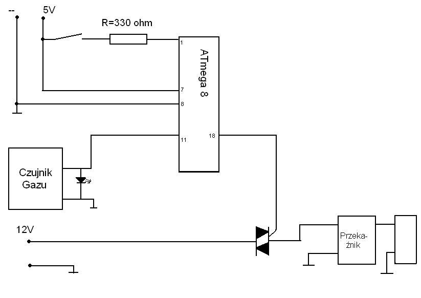 Mikroprocesorowy uk�ad steruj�cy elektrozaworem
