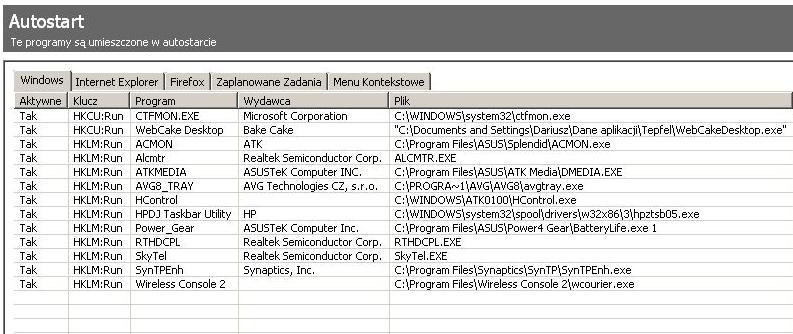 Asus F3U - Zbyt wolne uruchamianie systemu XP