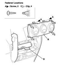 Honda CRV II oświetlenie pokręteł nawiewu i klimatyzacji