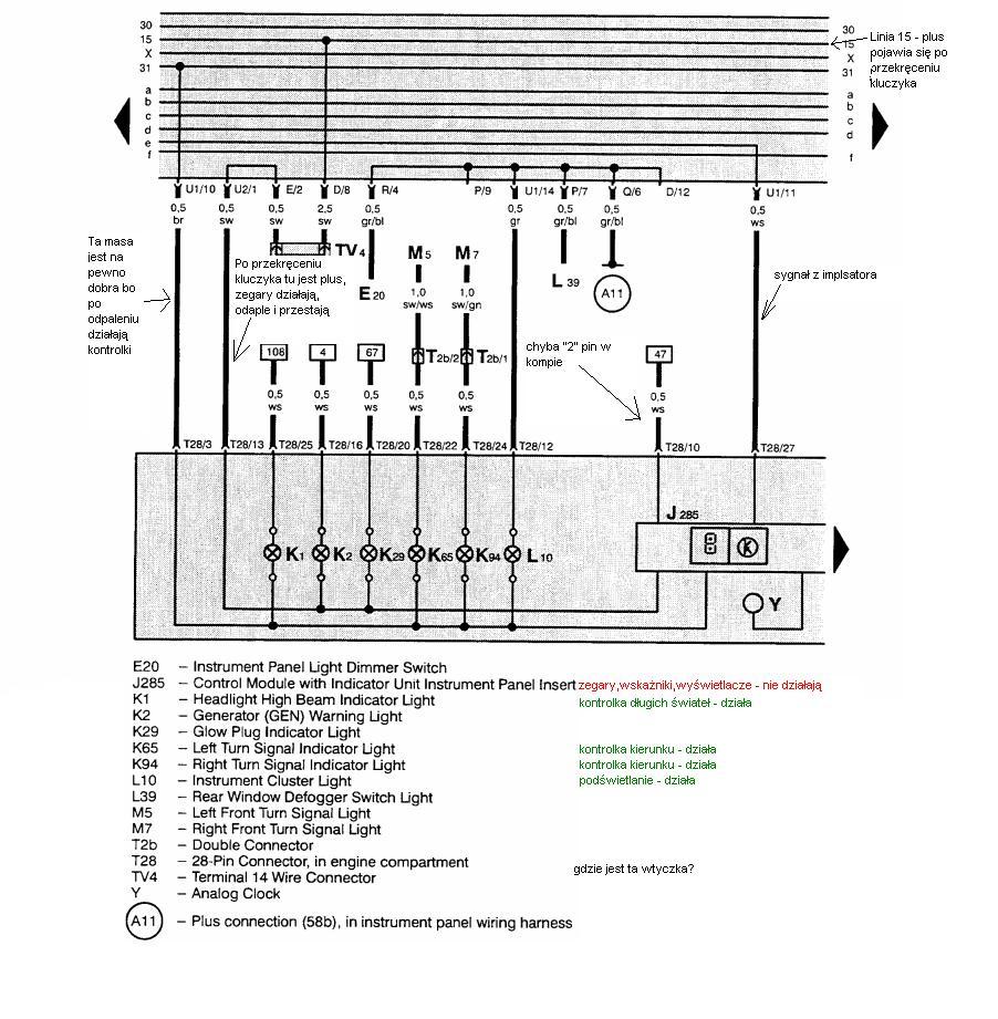 Golf mk3 - martwa deska rozdzielcza - tylko po odpaleniu silnika