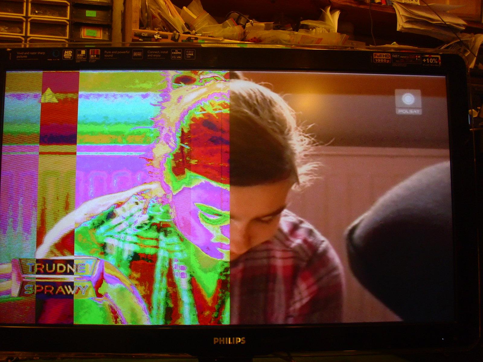 Philips 42 PFL5603D/12 prawid�owe tylko p� obrazu