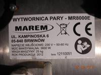 MAREM MR8000E - Wytwornica pary - polski bubel?