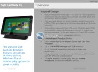DELL Latitude 10 - tablet z Atom Clovertrail, Windows 8, HSPA+, LTE, TPM