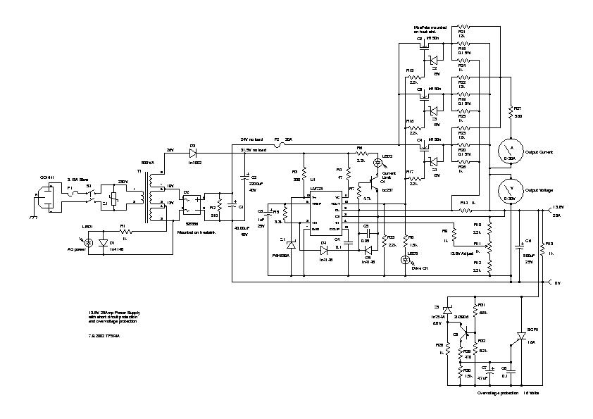 13 8v 40a power supply for shortwave radio station