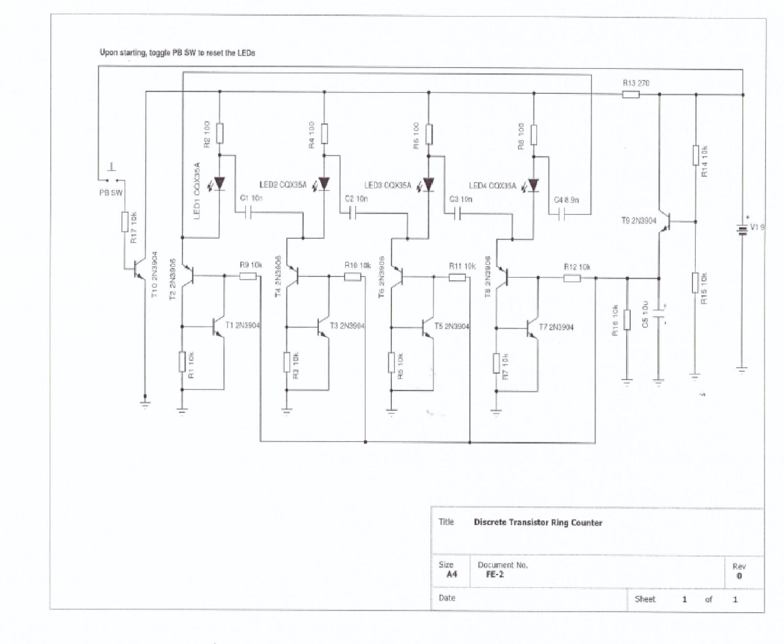 3 Way Led Lamp Circuit Project Diagram