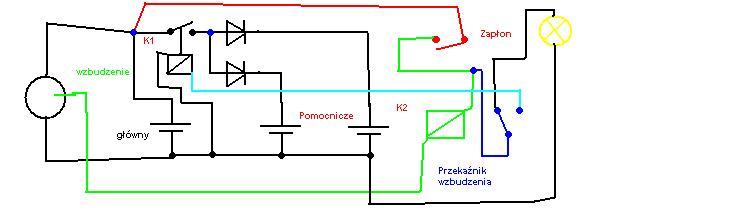 �adowarka trzech akumulator�w z jednego alternatora