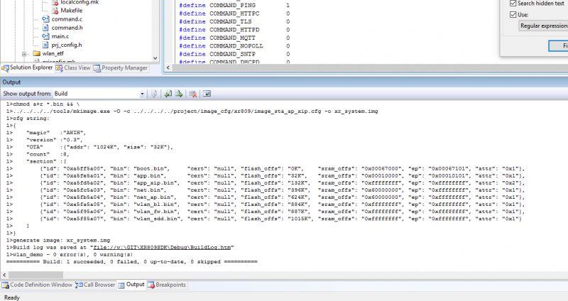 Automatyzacja środowiska pracy (kompilacja, wgrywanie wsadu) XR809/XR3