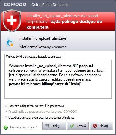 Firewall blokuje jaki� dziwny program