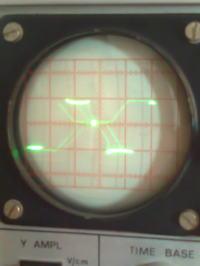 Oscyloskop KR-7001A - Z�y kszta�t przebiegu prostok�tnego i ...