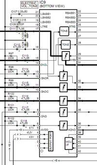 KENWOOD KRF-V5010 - Trzeszczy/szele�ci jeden kana�