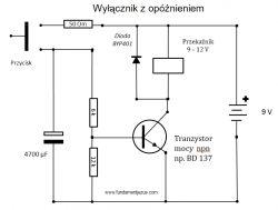 Przekaźnik czasowy z podtrzymaniem 12V