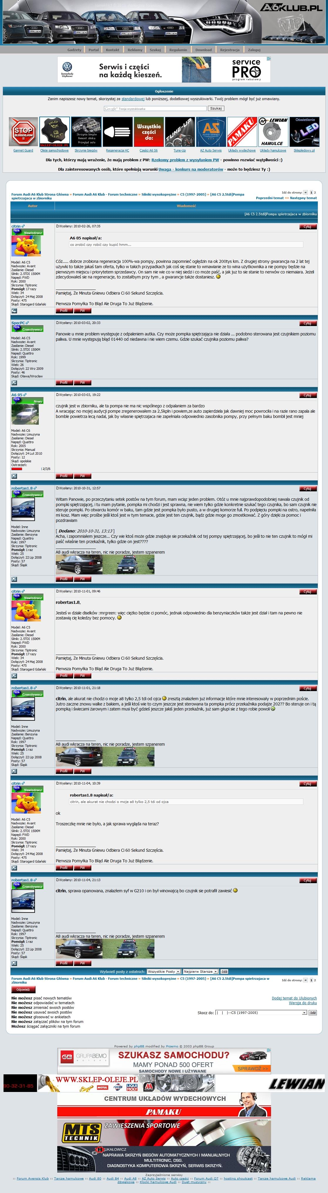 Jaki najlepszy silnik do AUDI A6 C5?