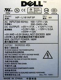 Dell model: HP-L161NF3P - spalony tranzystor i uk�ad przetwornicy.
