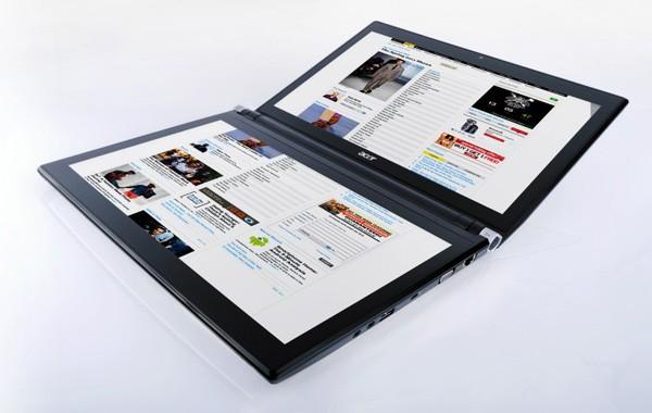 Acer Iconia - laptop z dwoma ekranami