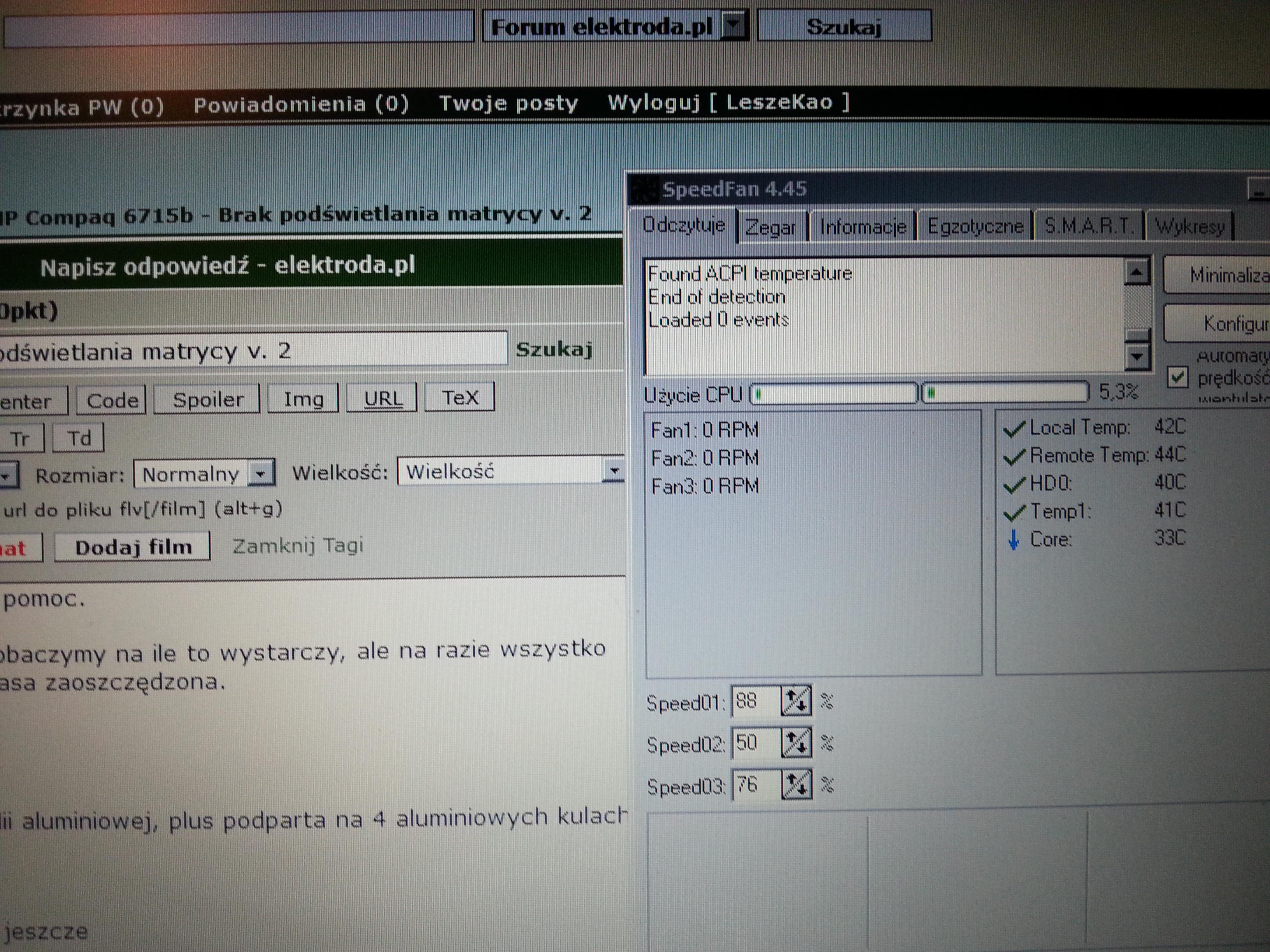HP Compaq 6715b - Brak pod�wietlania matrycy v. 2