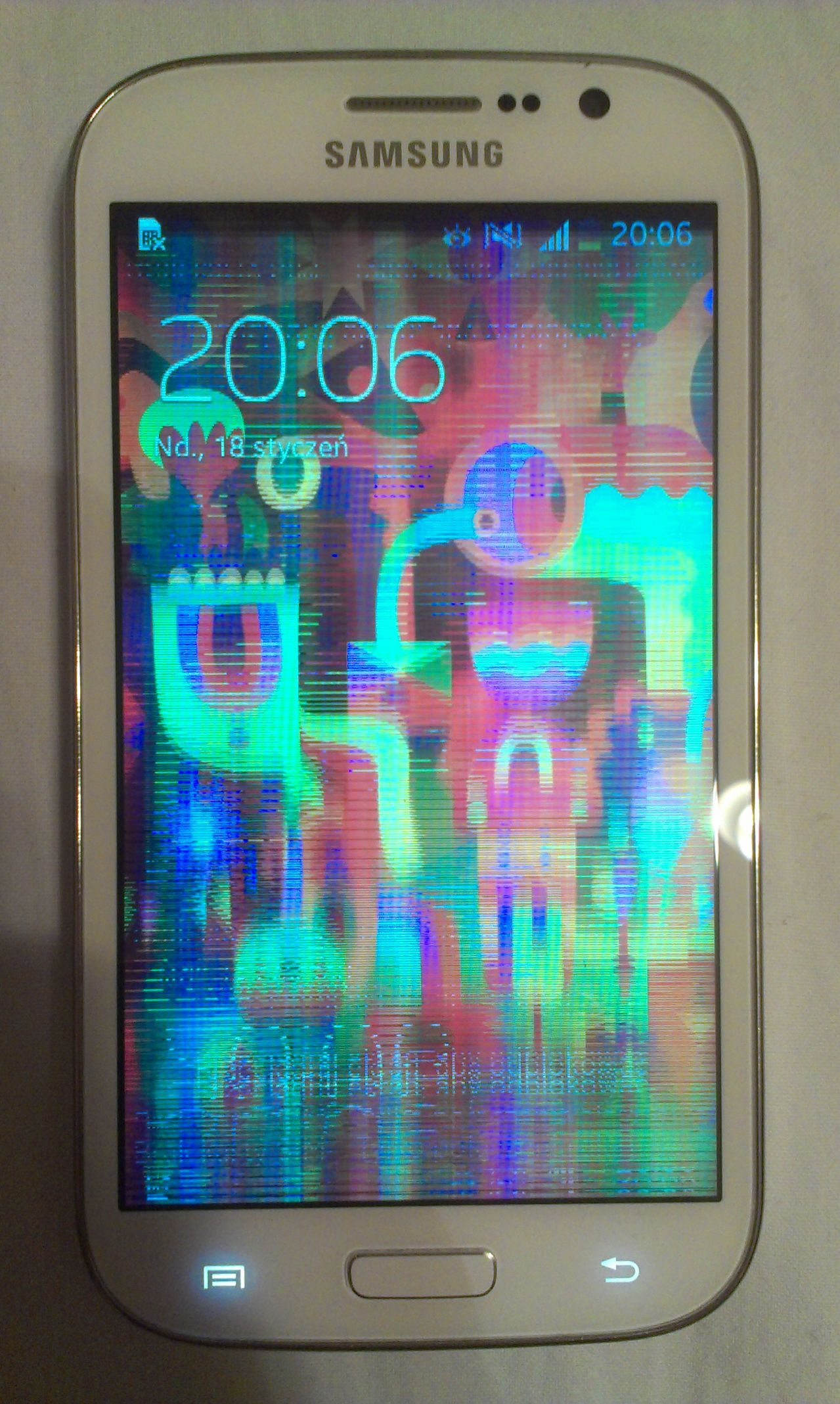 Samsung Galaxy Grand Neo krzaczki na ekranie