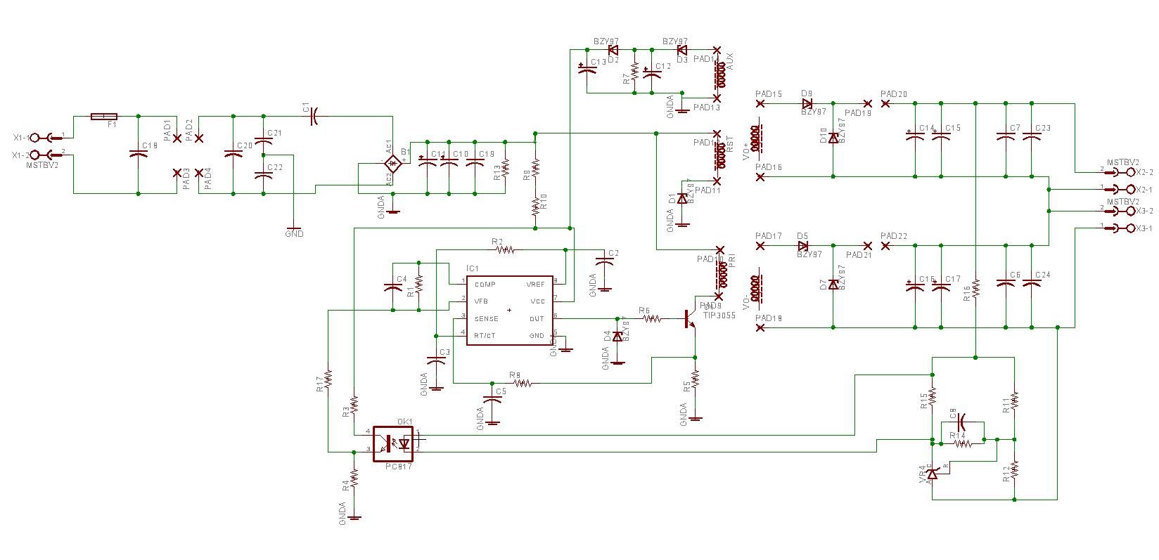 Trying to understand saturation in a single switch Forward converter
