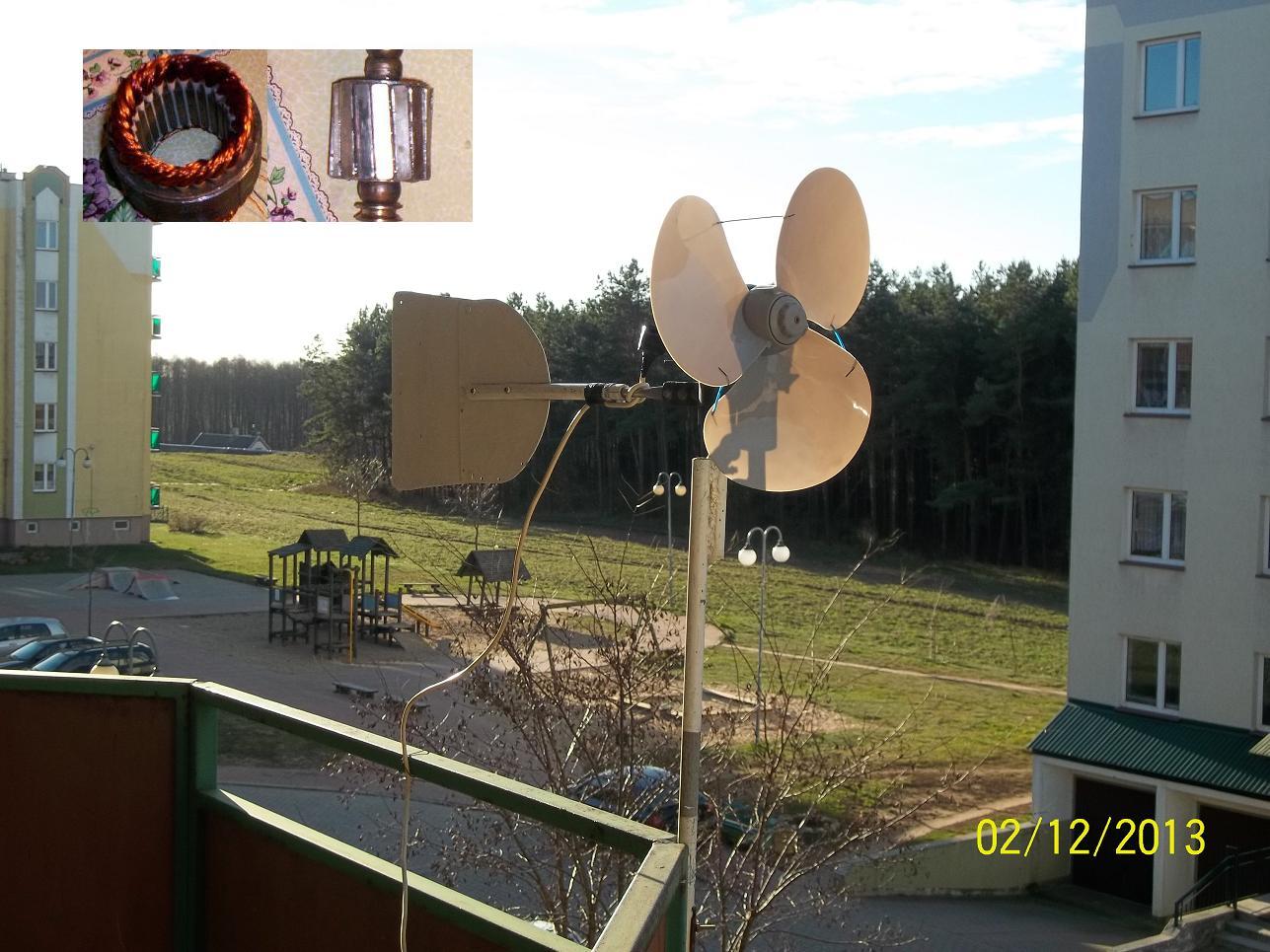Generator wiatrowy 12V na jacht - samodzielna budowa