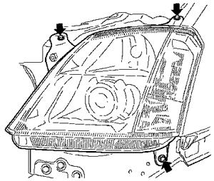 wymiana żarówek z przodu Meriwa II