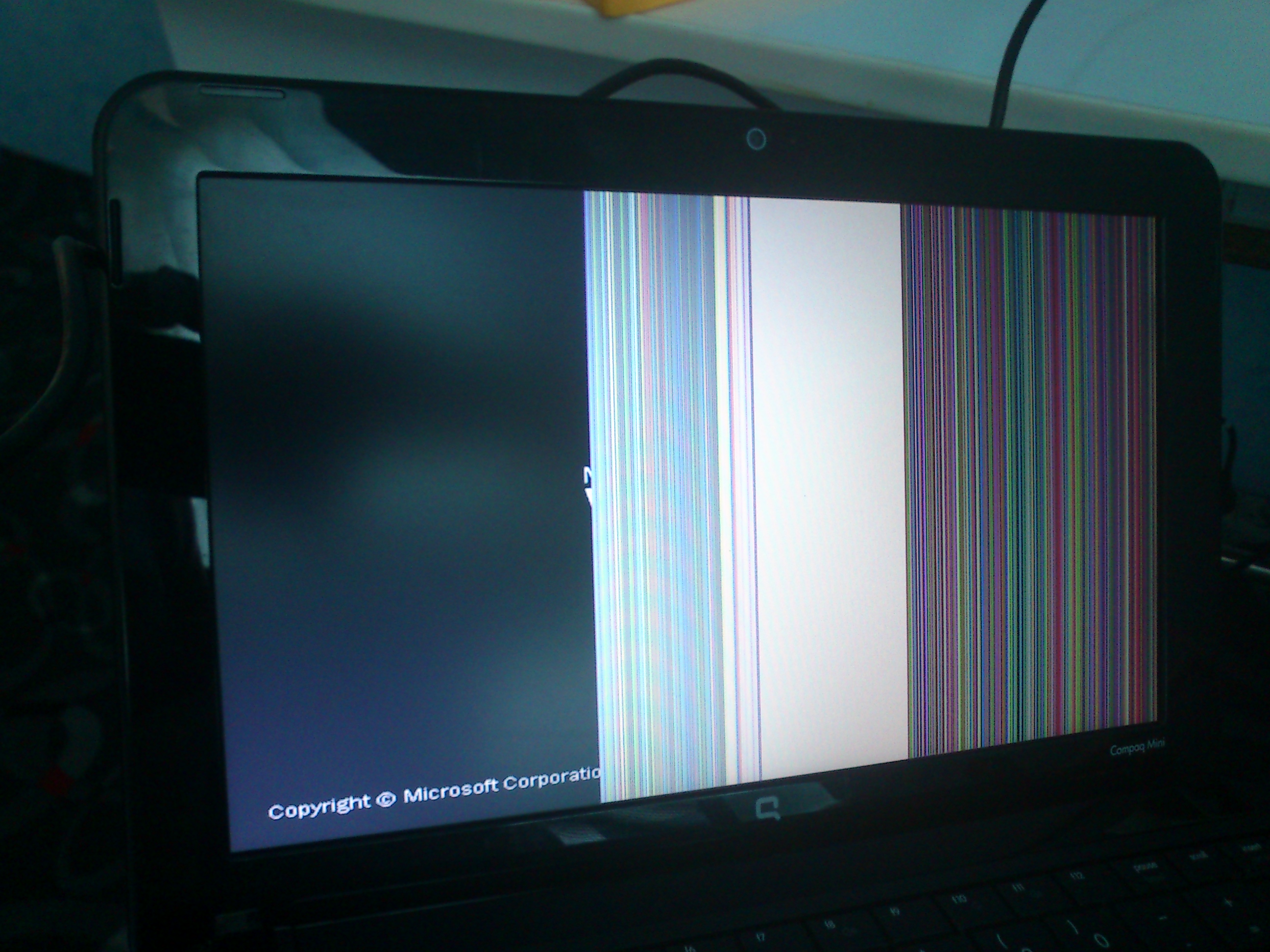 HP Compaq - Upadek notebooka, diagnoza (zdj�cie monitora)