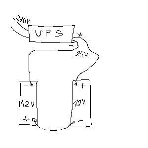 Obniżenie napięcia z 15v do 14v na akumulatorach podłączonych do UPS