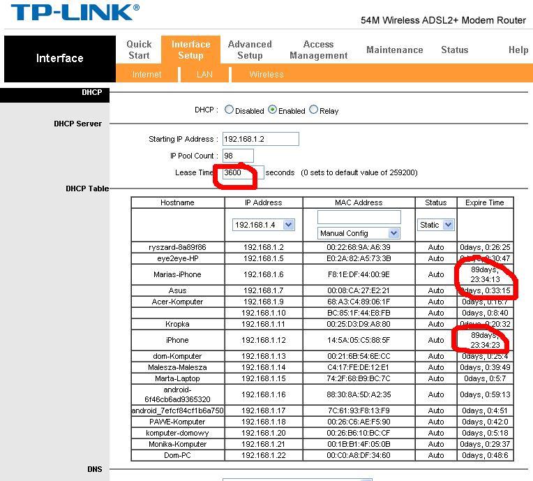 TP LINK Neostrada ci�g�e roz��czanie na nowej umowie