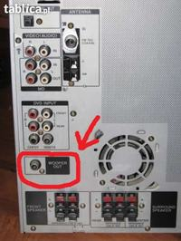 Wie�a Sony RXD10AV - Wej�cie na subwoofer. Jak pod�aczy�?