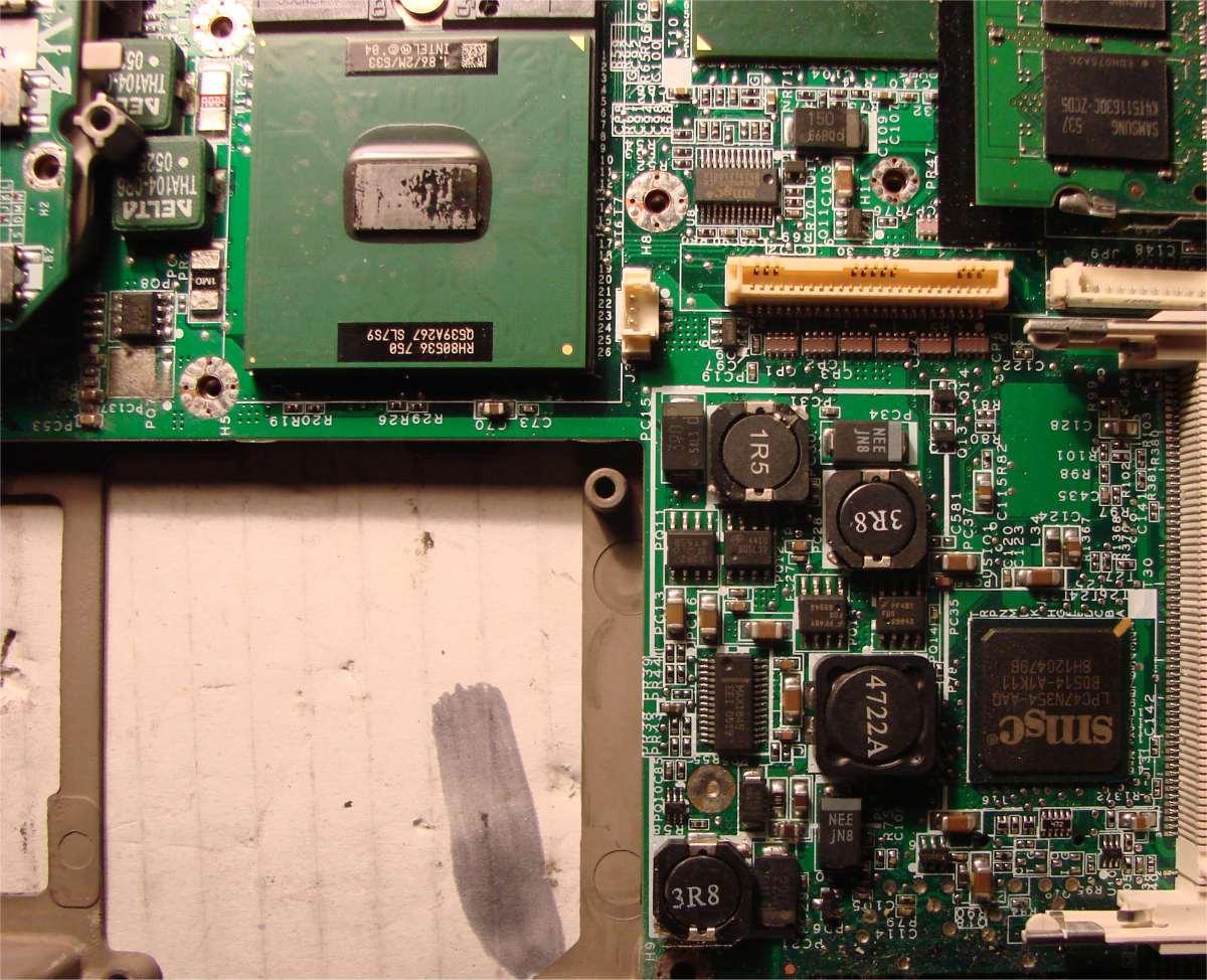 Dell D610 - Za�wieci diodami i po 4 sek. wy��cza si�.