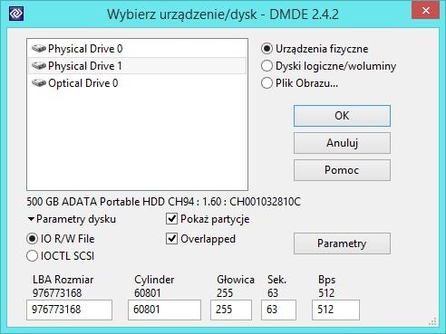 ADATA Ch94 - Dane do odratowania na dysku zewn�trznym