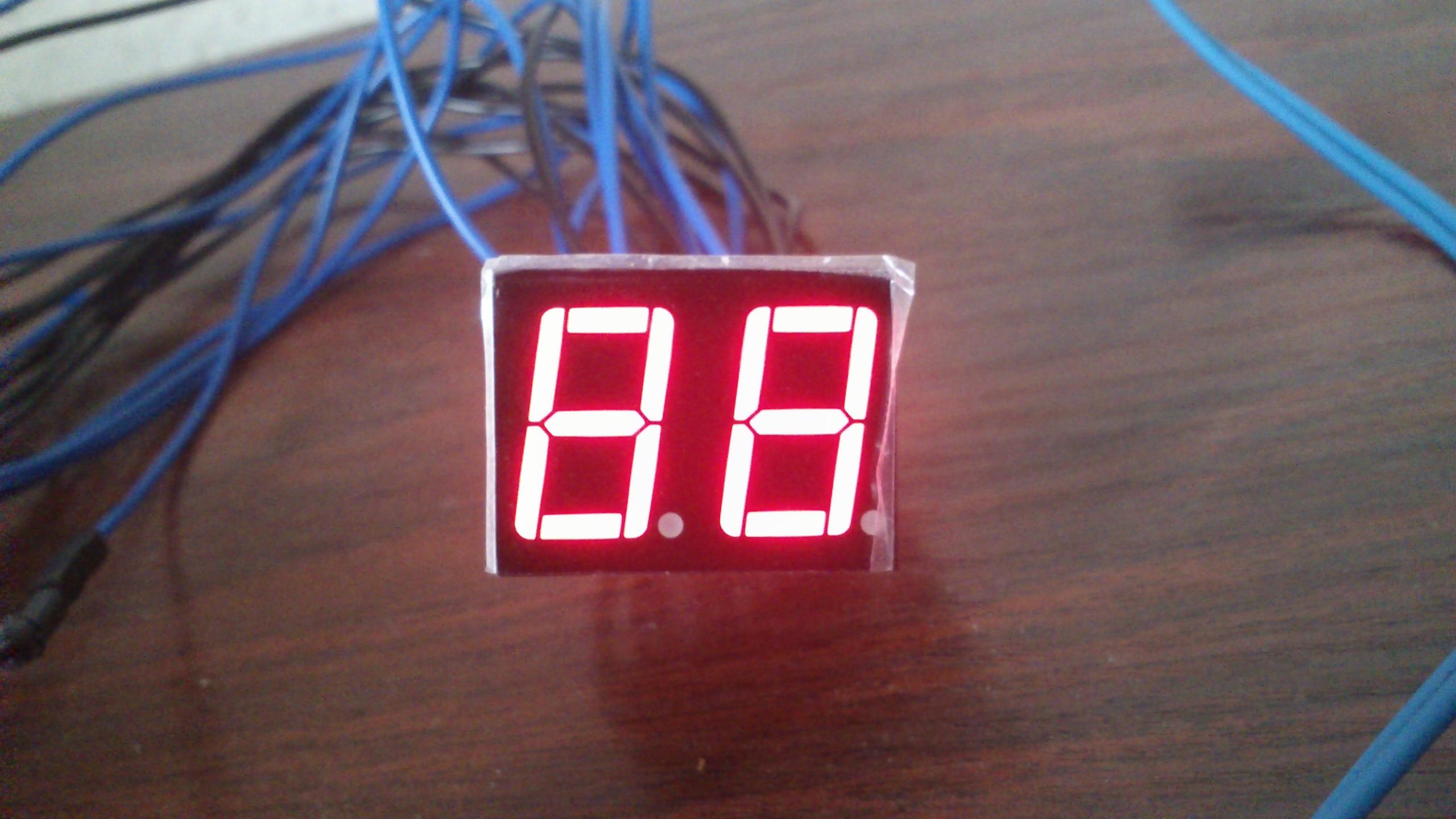 [ATMega 8A] - Wy�wietlacz 7 segmentowy LED-s�abe pod�wietlenie na 2 wy�wietlaczu