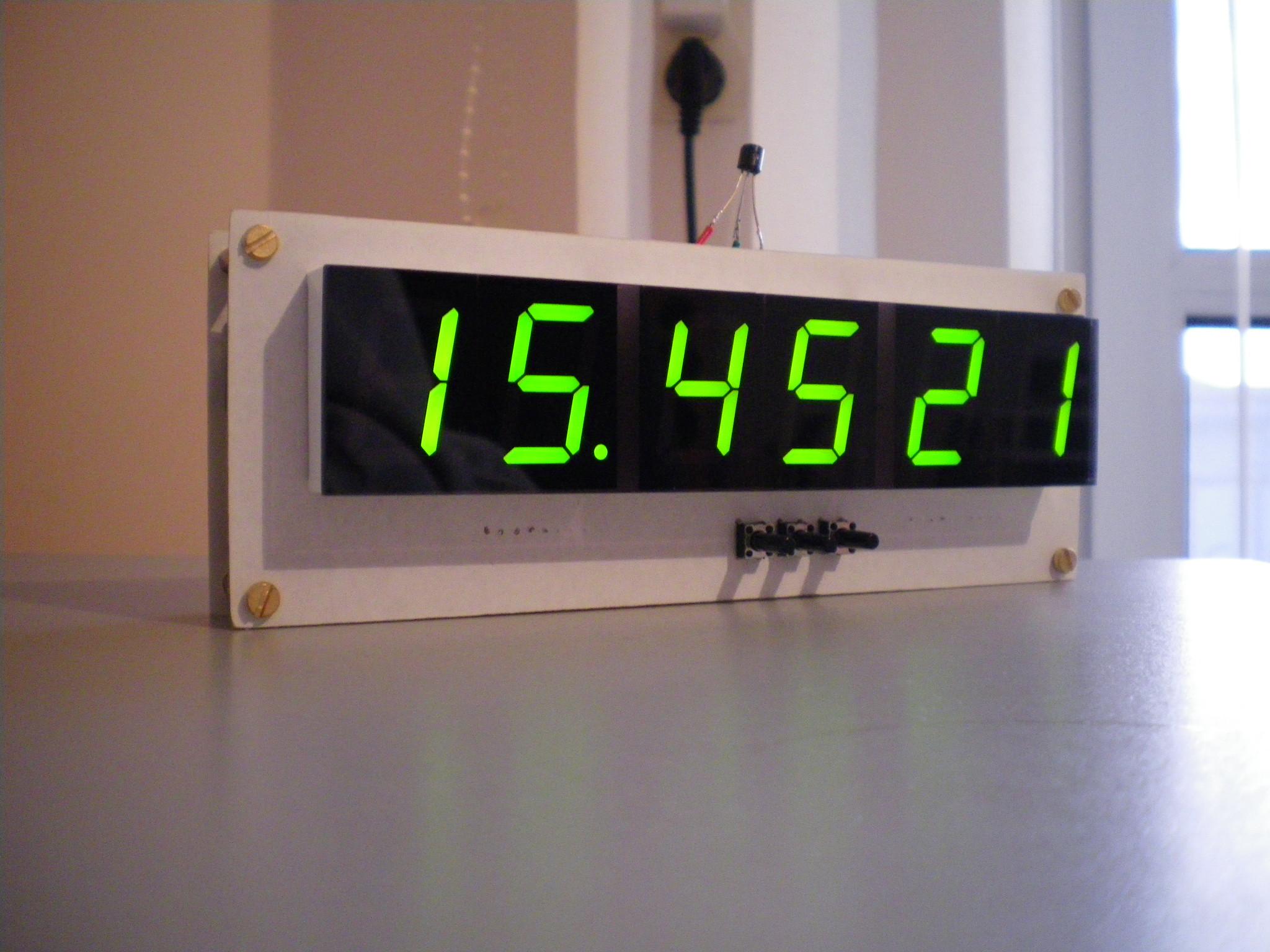 Zegar LED + DS18B20 + kalibracja chodu