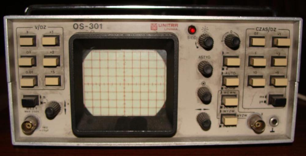 Polski oscyloskop OS-301 kalibracja sondy (brak wew. gen. wzorcowego)