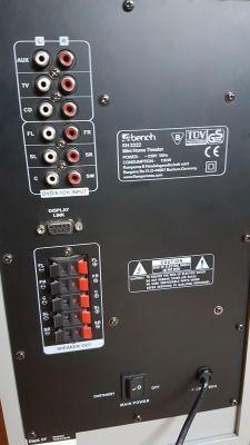 Yamaha RX-V367 + subwoofer - Podłączenie