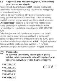 Vaillant ecoVIT plus VKS INT 196- komunikat SEr