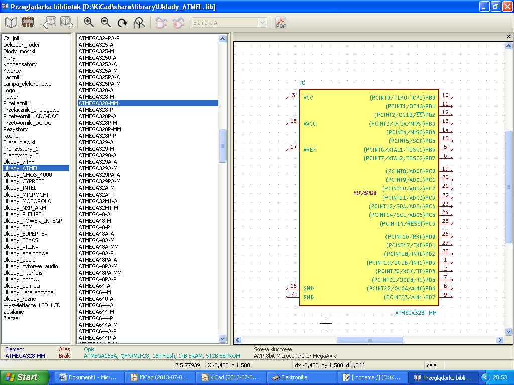 Biblioteki element�w do programu KiCAD