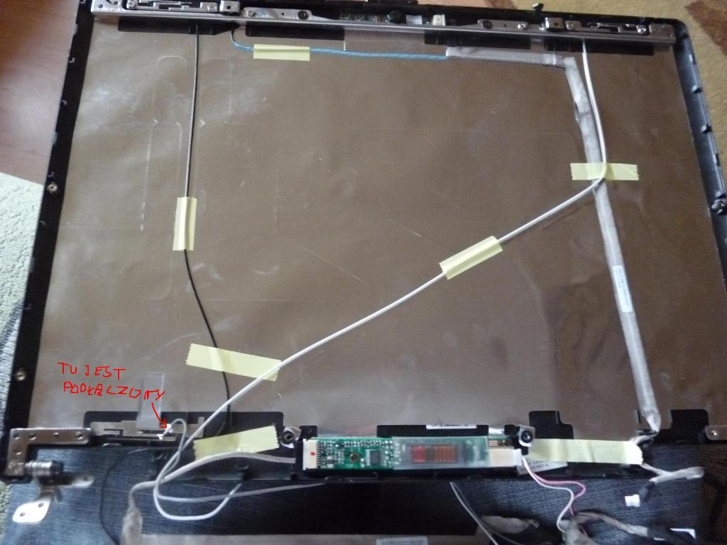 NTT S96S problem z podlaczeniem matrycy. Dziwiny kabalek