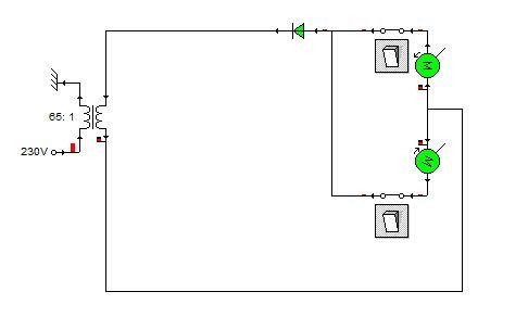Układ zmieniający polaryzację silników rotomatu.