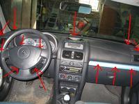 Clio II jak dostać się do wyświetlacza od radia