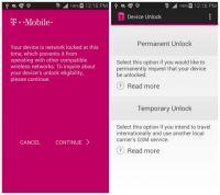 - Zdjęcie SIMLOCKA T-Mobile USA, LG V10 , aplikacja Device Unlock.
