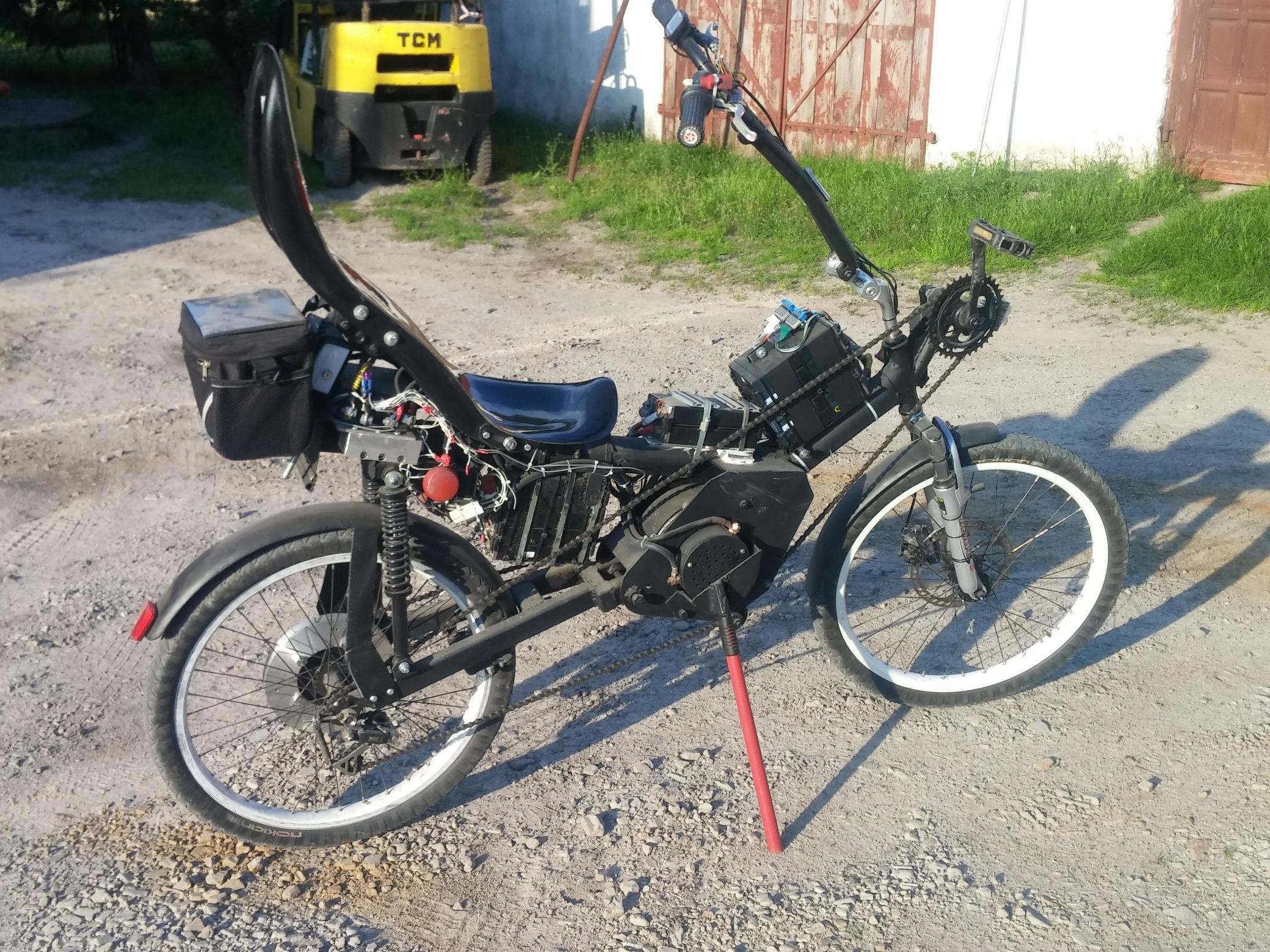 Poziomy rower elektryczny 8kW