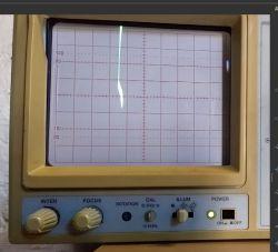 Oscyloskop analogowy nie wyświetla prawidłowo