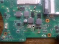 Asus N71JV uszkodzona przetwornica procesora