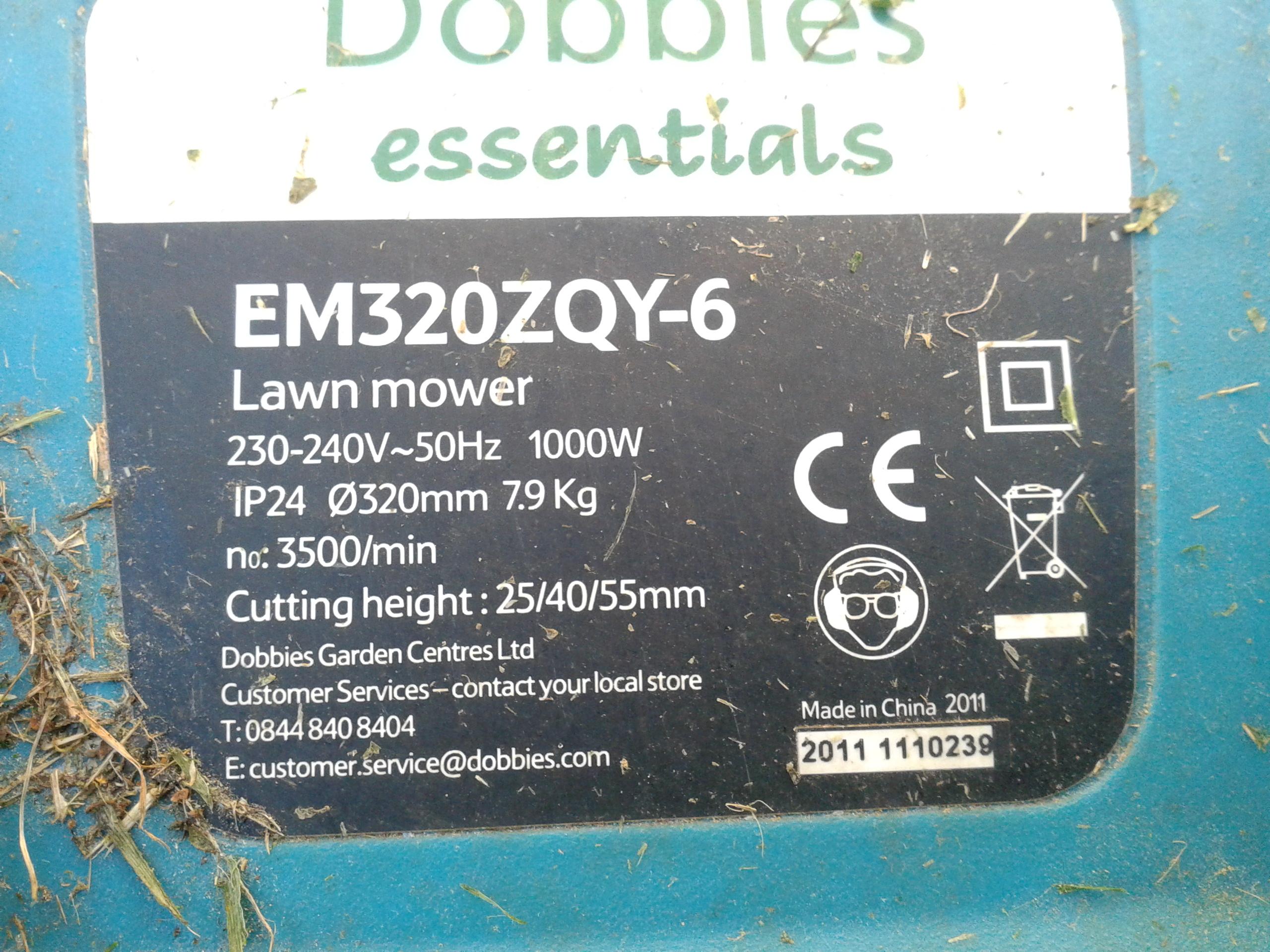Kosiarka elektryczna Dobbies  - kosiarka nie dzia�a