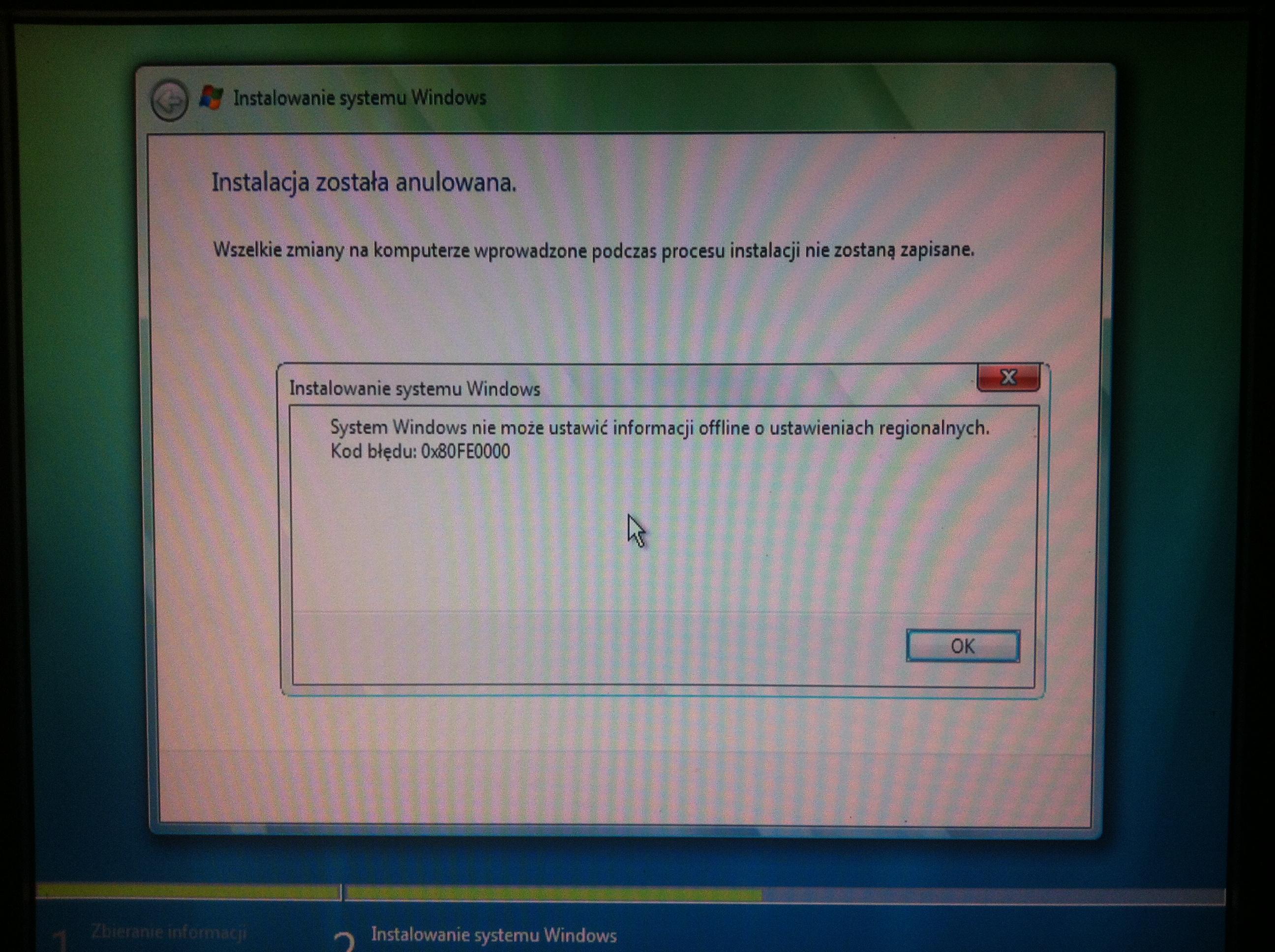 Windows 7 (x86, x64) - zwis przy instalacji na dysku SSD, na HDD instaluje