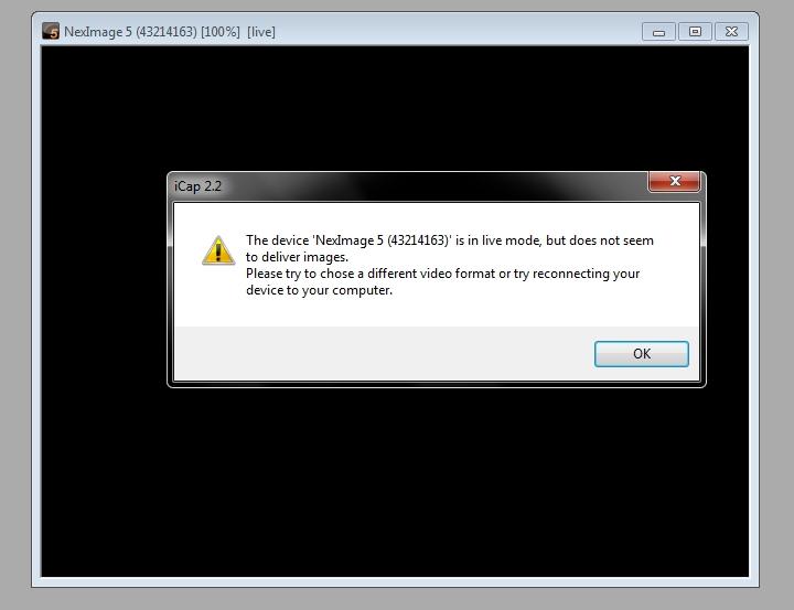 Nie wykrywa kamerki NextImage 5 na laptopie