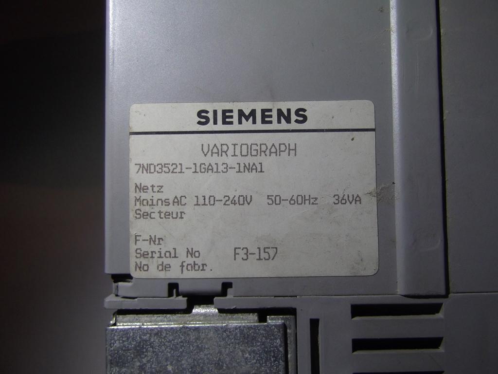 Identyfikacja sprz�tu - Siemens Variograph