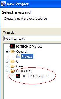 """Hi Tide """"nie widzi"""" kompilatora PICC"""