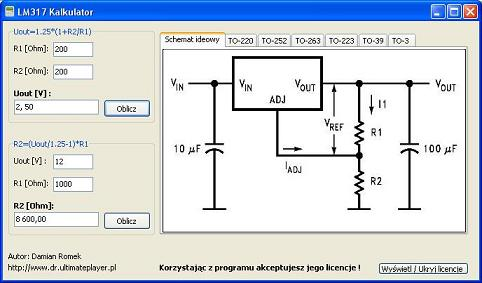 "Program ""LM317 Kalkulator"""