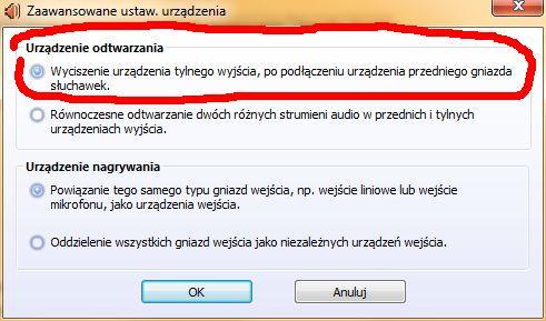 Nagły brak dzwięku Windows 7 64x
