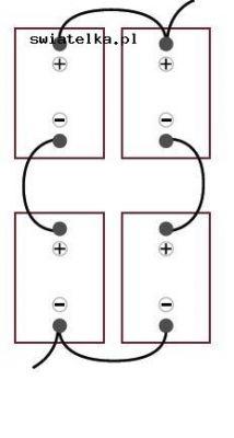 Jak połączyć 4 akumulatory żeby uzyskać 24V Do regulatora MPPT